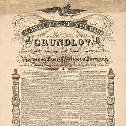 Bilderesultater for grunnloven 1814